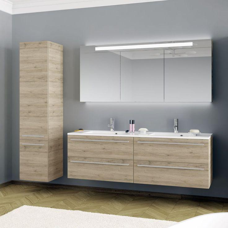 Doppel-Waschtischunterschrank / hängend / Holz / modern BRONI RIHO