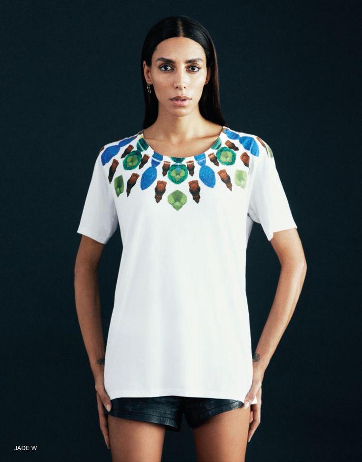 JADE white t-shirt