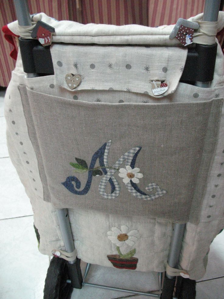 Beautiful renovated personal  SHOPPING CART  by Maria Bavi   - also a wonderful blog on applique by this lady.
