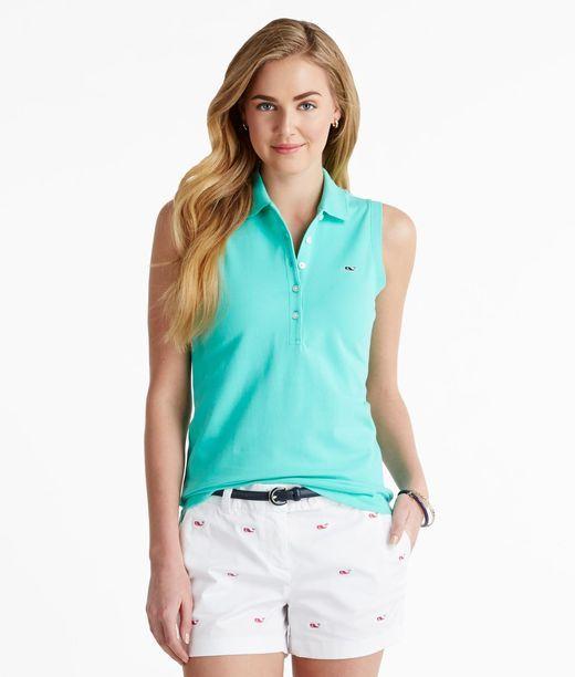 Shop sleeveless womens polo shirts vineyard vines for Women s dri fit polo shirts wholesale