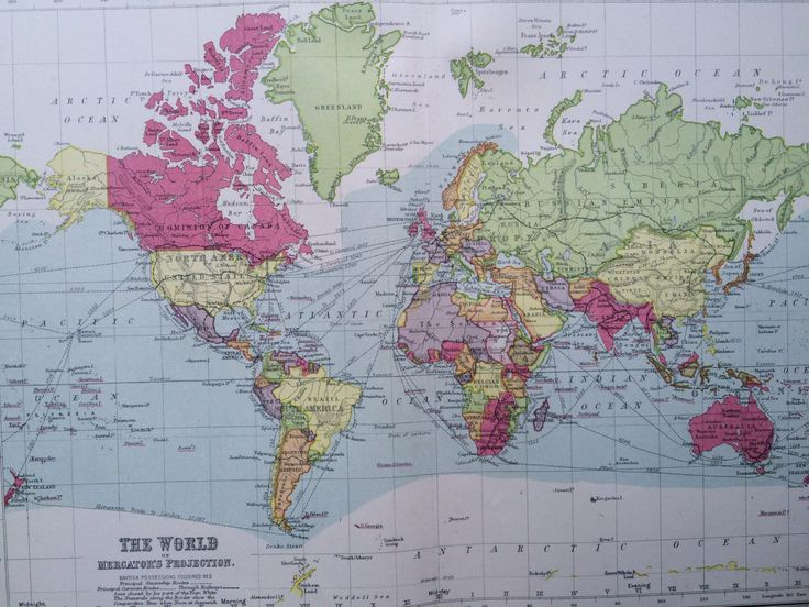 Mejores 74 imgenes de world maps en pinterest mapas antiguos original antique world map on mercators projection showing british possessions 105 x 135 inches philips atlas home decor cartography gumiabroncs Image collections