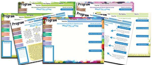 A collection of program templates to print to A3 or A4. Includes a guide as well as examples.  This programming pack Includes every area you need to ensure your cycle or programming and including every child's voice. This pack is a helpful tool to help you map the journey of children in your care.https://designedbyteachers.com.au/eylf-programming-pack/