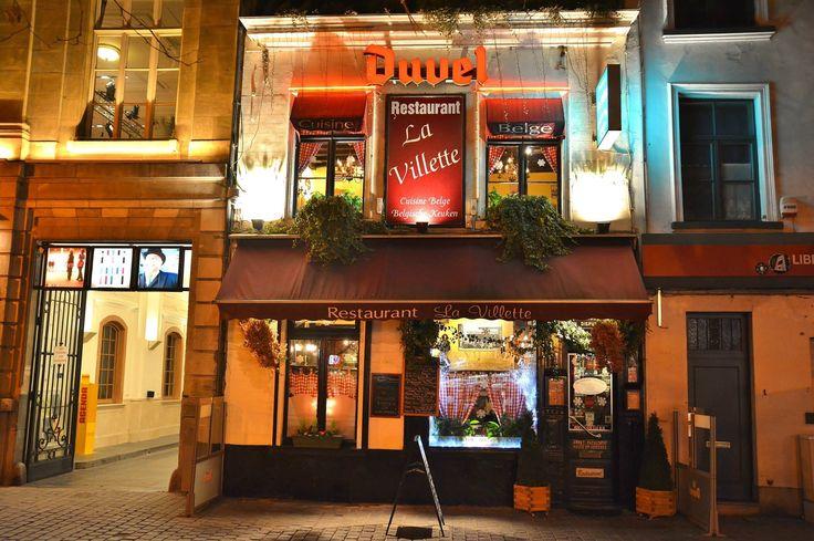 Photo Michel Maes- Brussels by night- Restaurant la Villette