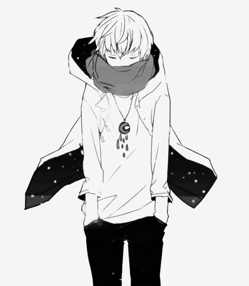 gambar anime, manga, and black and white