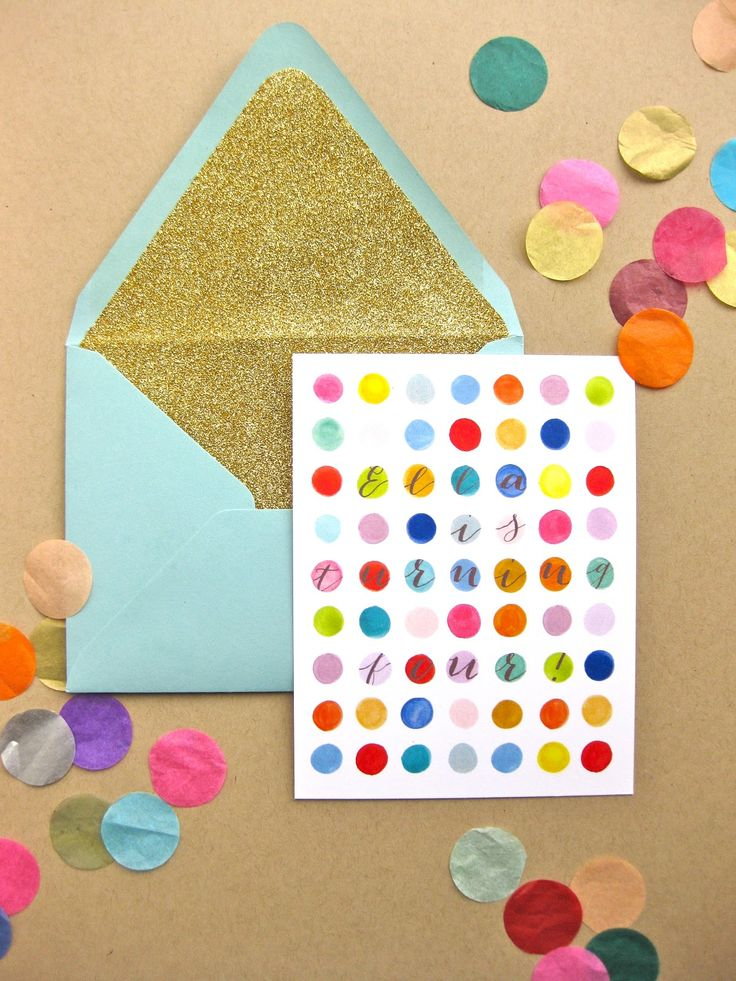 paper & ink: colorful painted circle fourth birthday invites