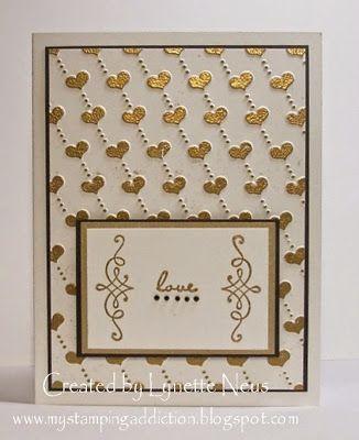Darice Hearts Embossing Folder Card