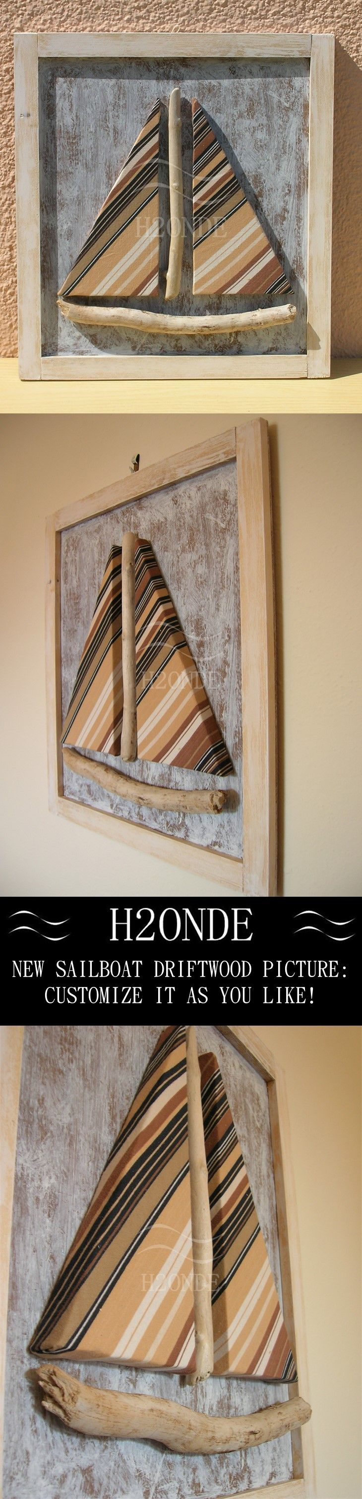 sailboat picture  driftwood picture  coastal wall art  white beach decor shabby…