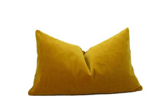 Mustard Velvet Pillow Cover Dark Yellow Velvet Pillow Rectangle Velvet Pillow Mustard Velvet Cushion Velvet Cushions Velvet Pillows Velvet Pillow Covers