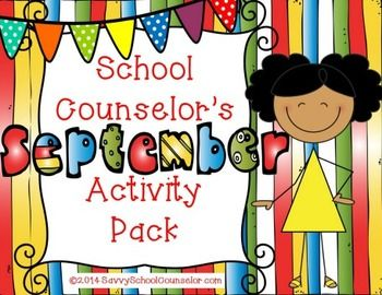 School Counselor's September Activity Pack - It includes activities dedicated to Listening Skills, Character Education, Making Choices, and Organization. It also includes four Roll and Respond cards.