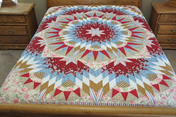 Star  Patchwork Complete Quilt J17 by lovequilting on Etsy, $169.99