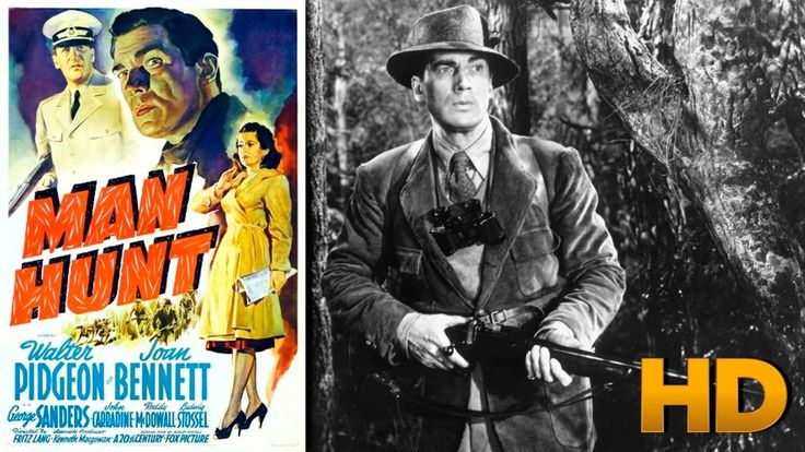 Man Hunt 1941 HD - Walter Pidgeon, Joan Bennett, George Sanders Movie