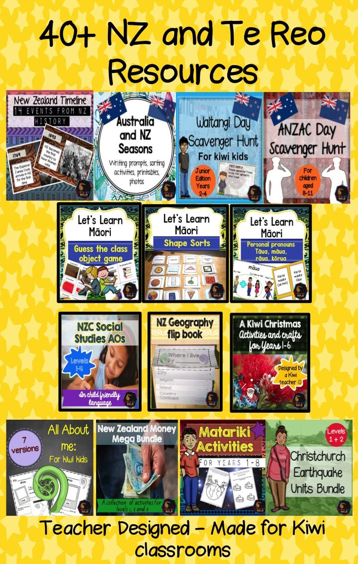 New Zealand and Maori teaching resources for primary school classrooms! Great easy to use teaching resources