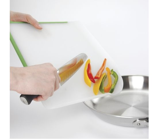 OXO Good Grips - Deska do krojenia CHOP&POUR papryka