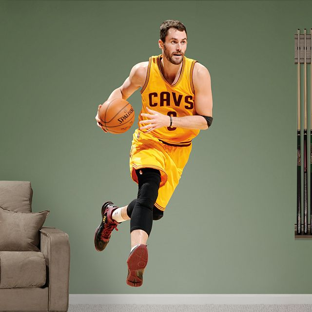 Kevin Love - No. 0 REAL.BIG. Fathead – Peel & Stick Wall Graphic | Cleveland Cavaliers Wall Decal | Sports Home Decor | Football Bedroom/Man Cave/Nursery