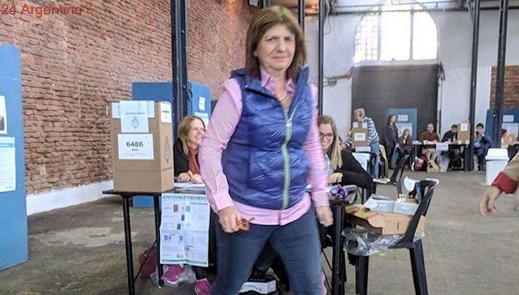 Elecciones 2017: Patricia Bullrich, la primera en votar en medio de un fuerte operativo