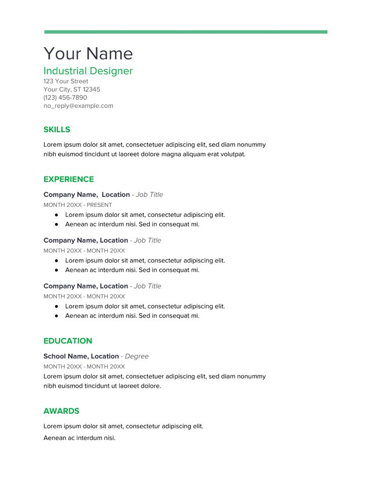 Over 20 templates for Google Docs resumes [Download Now