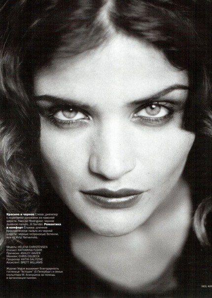Helena Christensen by Neil Kirk Vogue Russia November 1998