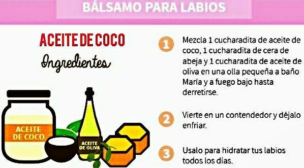 Aceite de coco  Bálsamo para labios 💋