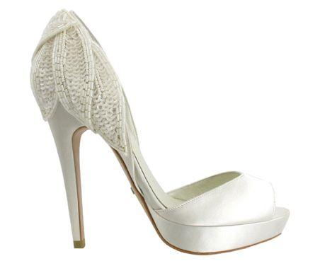 Menbur - zapatos de novia zapato novia peep toe hojas lentejuelas