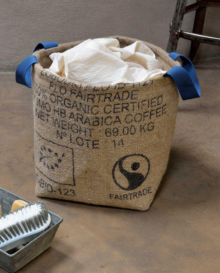 Pani re lilokawa en toile de jute de sacs de caf recycl s exterieur et solide b che plastique - Toile de jute castorama ...