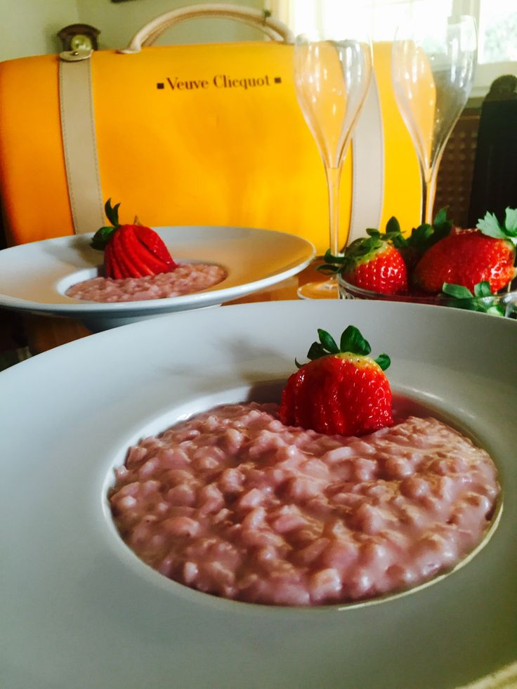Risotto fragole e champagne - Strawberry champagne risotto