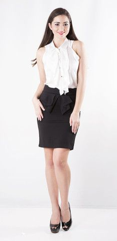 SIZE  $49.00  Chic Slim Fit Skirt  -Slim Fit  -Medium Length above knee  -Peplum style over layer in the front  -Classic Style  Chic Slim Fit Skirt is a perfect work skirt and is made to hug your sexy curves. It is a mid waist style with a medium above the knee length. It is a perfect add on for everyday wear, formal work gear.   http://stylebox8.com/collections/new-in-1/products/chic-slim-fit-skirt