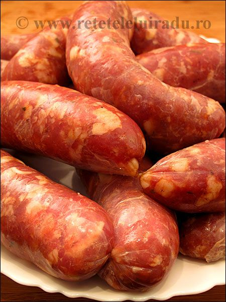 Romanian style pork and veal sausages