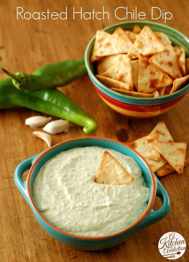 Creamy Roasted Hatch Chile Dip | Recipe | Chili, Juice and Cracked ...