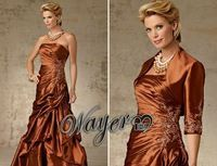 HL-MB0142 Elegant Formal Embroidery A-line taffeta Evening Gown plus size mother of the bride dresses with jacket custom made - #elegant #embroidery #...