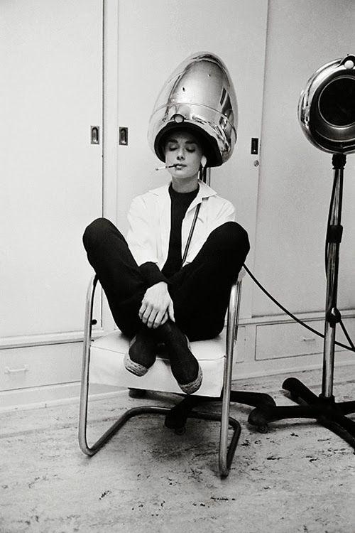 Audrey Hepburn during production of Billy Wilder's Sabrina, 1954