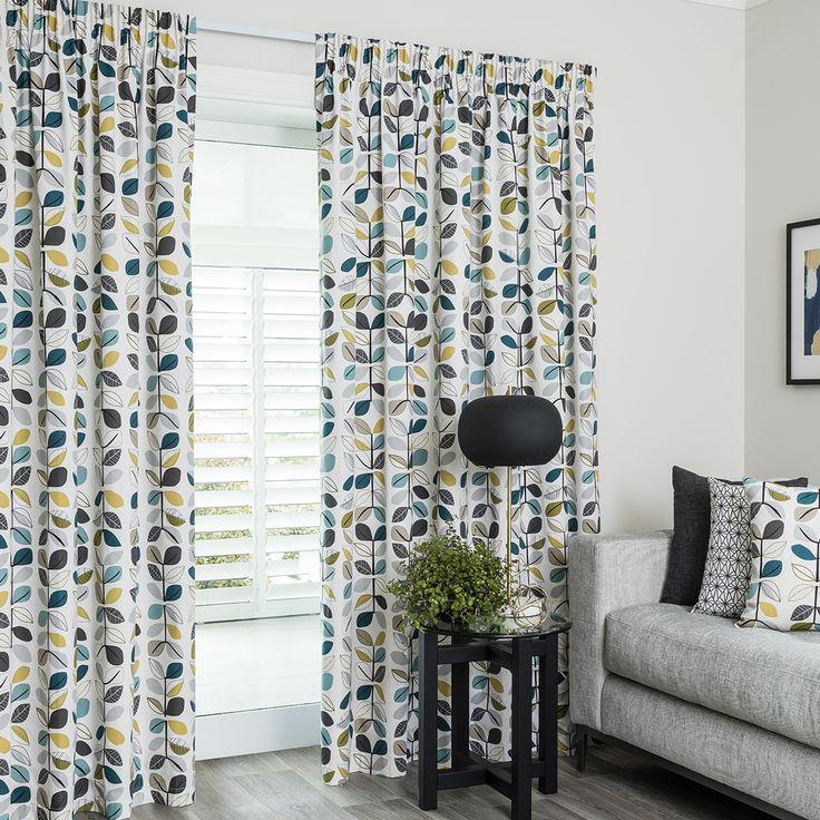 Matakana Pacific - Readymade Thermal Pencil Pleat Curtain - Curtain Studio buy curtains online