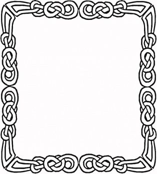 celtic picture frame kids can color and then use with their photo