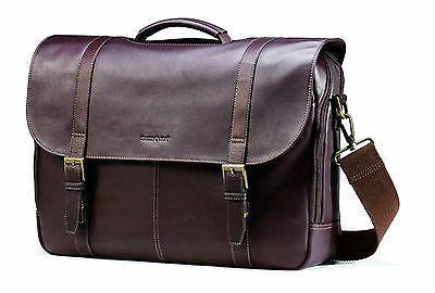 ﹩150.07. Samsonite Leather Messenger Bag Laptop Business Case Briefcase Attache Handbag    Style - Messenger/Shoulder Bag, Color - Brown, Material - Leather, Features - Removable, adjustable padded shoulder strap, Hard/Soft - Soft, UPC - 0432024852448