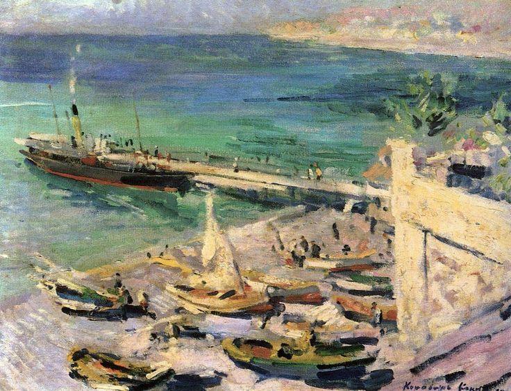 Pier in the Crimea - Konstantin Korovin-