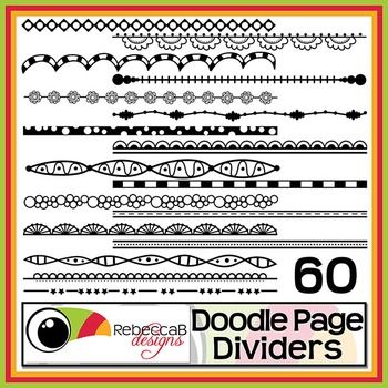 Doodle Page Dividers is a huge set and contains 60 different doodled, black line page dividers and they can be rotated, reduced or increased in size easily. Use these .PNG files to use as a divider on worksheets, activities, posters and other teaching resources.