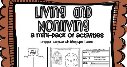 Our first science mini-unit is about living and nonliving things. It's a great way to transition into our next unit about plants (we fo...