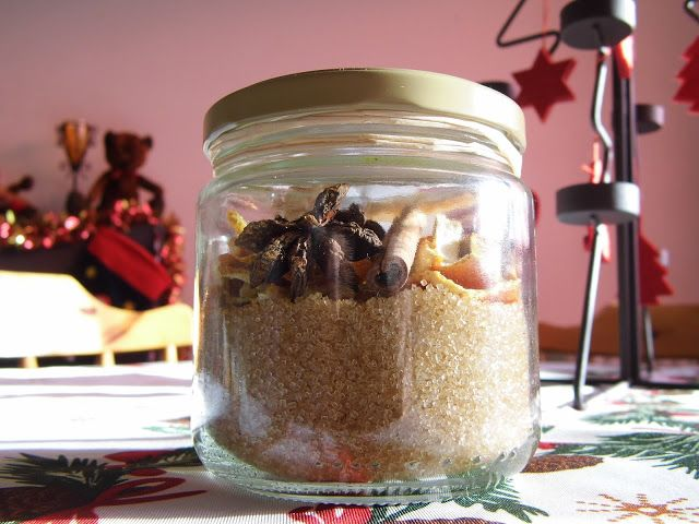 cadeau pour hommes , mélange pour rhum arrangé ou vin chaud avec étiquette explicative et joli couvercle tissus