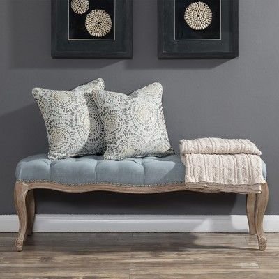 regal tufted bench light blue picket house furnishings in 2018