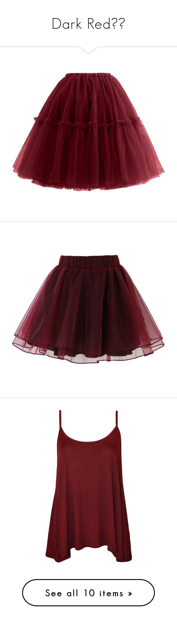 """""""Dark Red♥️"""" by skh-siera18 ❤ liked on Polyvore featuring skirts, vintage jewelry, party jewelry, ballet jewelry, cocktail jewelry, evening jewelry, mini skirts, bottoms, saias and red"""