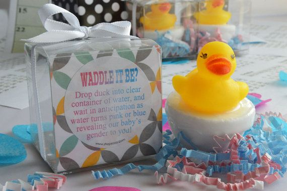 Waddle It Be Gender Reveal Bath Fizz with Rubber Duck by SosiaToGo