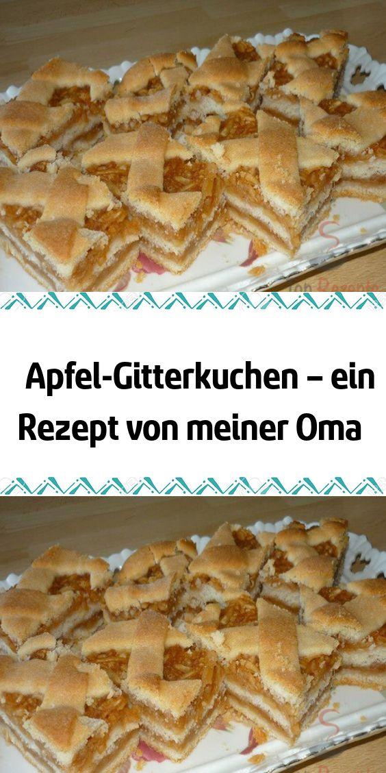 Apple Lattice Cake – ein Rezept von meiner Oma   – Kuchen