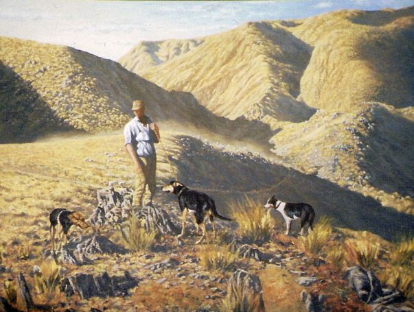 the muster - oil - www,paulconey.co.nz