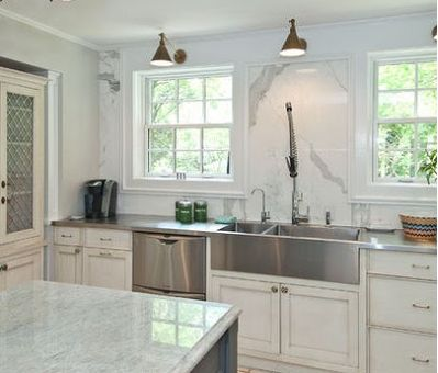 Superior Love The Brass Library Lights. Home Renovation   Traditional   Kitchen    Chicago   Rebekah Zaveloff. Find This Pin And More On Stainless Steel  Counter Tops ...