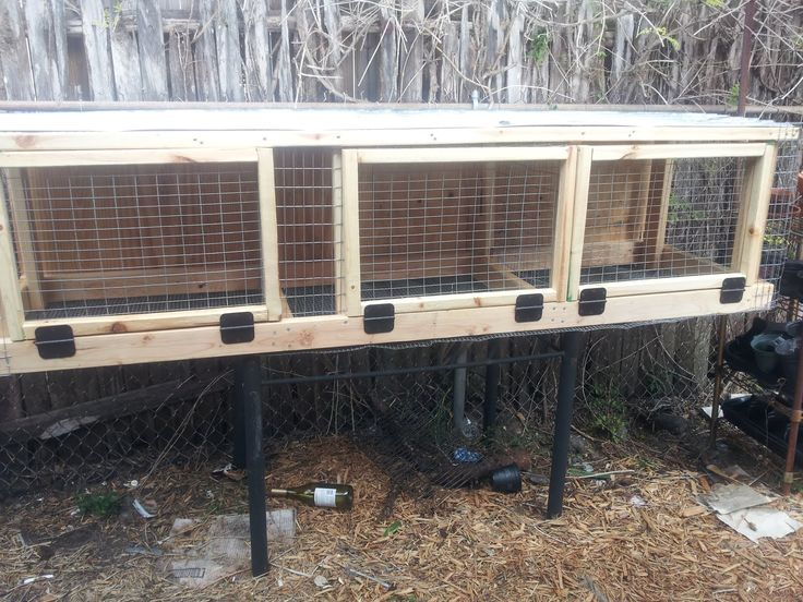 20 best rabbit hutches images on pinterest rabbit for How to build a rabbit hutch plans free