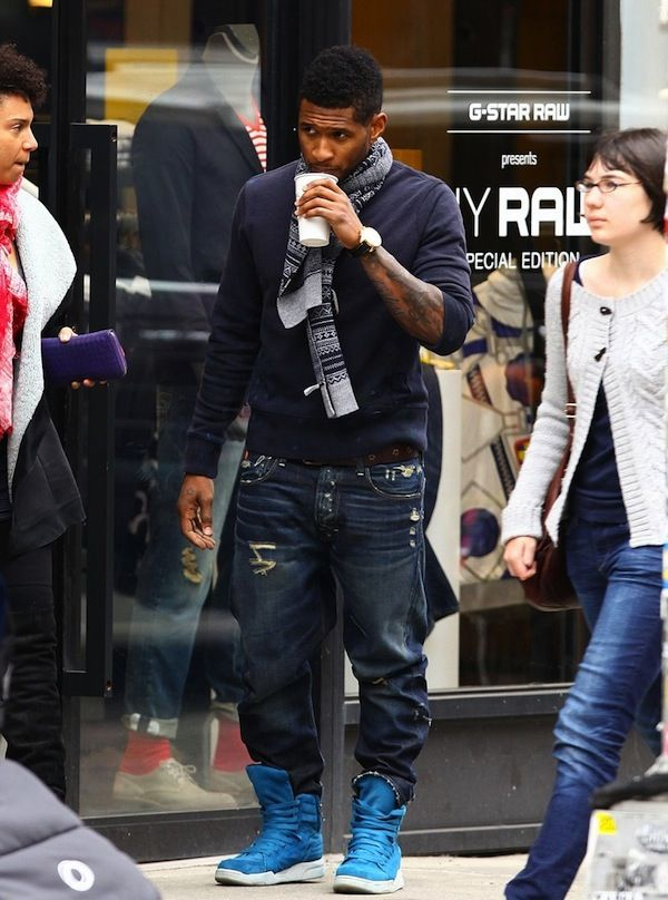 Usher Hits The Shops In NYC