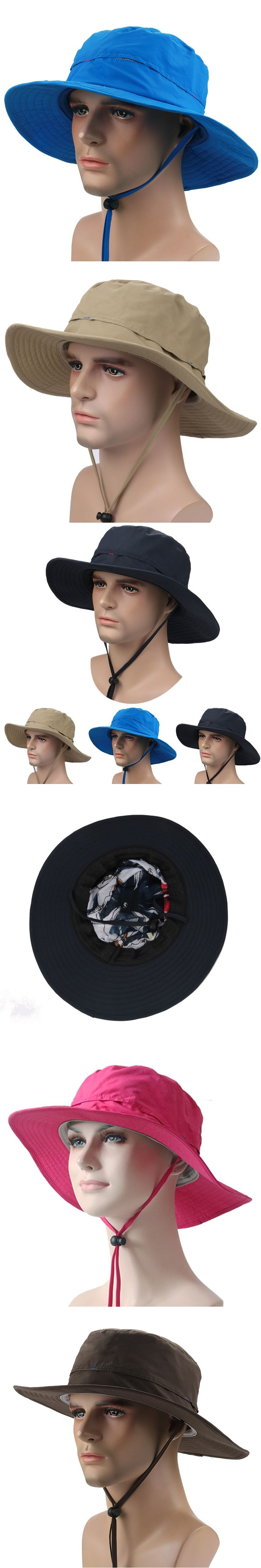2017 New Outdoor Bucket Hat Brim Quick-drying Breathable Sun Hats Riding Hiking Fishing Climbing Jungle Hat Cap UV Protection