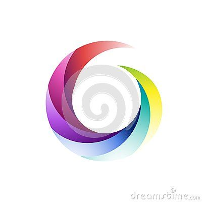 Infinity round icon symbol isolated vector illustration.  Corporate, Media, Technology styles Logo template.