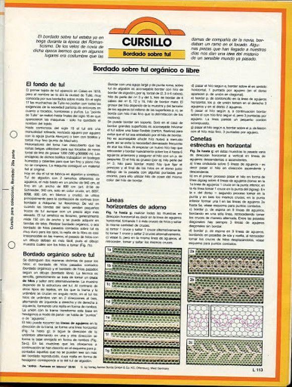 bordados en tul (pág. 30) | Aprender manualidades es facilisimo.com