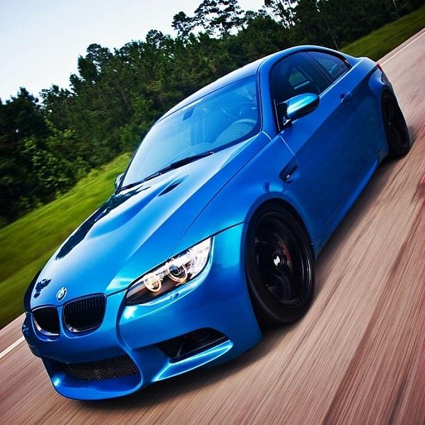 Blue BMW !