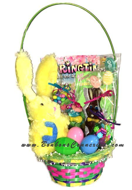 76 best easter baskets cadeaux pques images on pinterest panier cadeau irresistible de pques easter candy gift basket negle Image collections